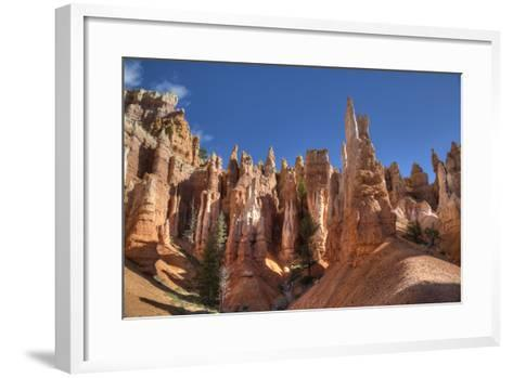 Hoodoos, on the Queens Garden Trail, Bryce Canyon National Park, Utah, United States of America-Richard Maschmeyer-Framed Art Print