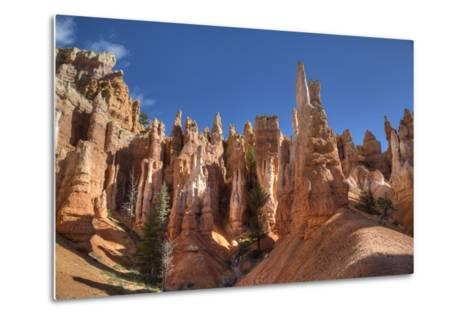 Hoodoos, on the Queens Garden Trail, Bryce Canyon National Park, Utah, United States of America-Richard Maschmeyer-Metal Print