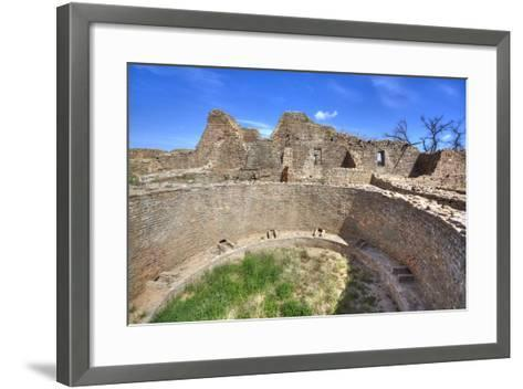 Open Kiva in West Ruins, Aztec Ruins National Monument, Dating from Between 850 Ad and 1100 Ad-Richard Maschmeyer-Framed Art Print