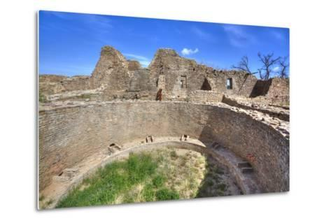 Open Kiva in West Ruins, Aztec Ruins National Monument, Dating from Between 850 Ad and 1100 Ad-Richard Maschmeyer-Metal Print