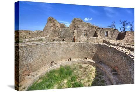 Open Kiva in West Ruins, Aztec Ruins National Monument, Dating from Between 850 Ad and 1100 Ad-Richard Maschmeyer-Stretched Canvas Print