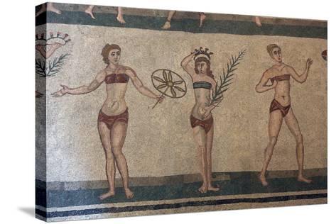 Mosaic, Villa Romana Del Casale, Piazza Armerina, UNESCO World Heritage Site, Sicily, Italy, Europe-Vincenzo Lombardo-Stretched Canvas Print