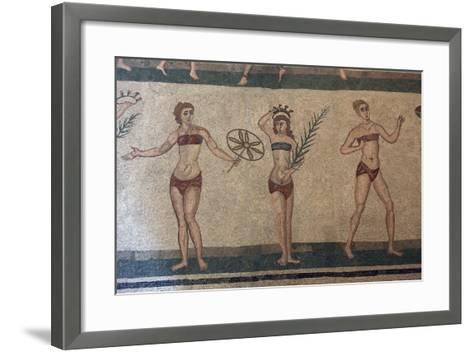 Mosaic, Villa Romana Del Casale, Piazza Armerina, UNESCO World Heritage Site, Sicily, Italy, Europe-Vincenzo Lombardo-Framed Art Print