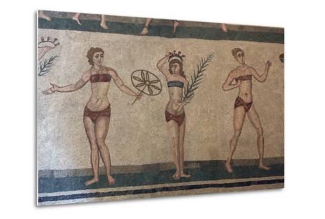 Mosaic, Villa Romana Del Casale, Piazza Armerina, UNESCO World Heritage Site, Sicily, Italy, Europe-Vincenzo Lombardo-Metal Print
