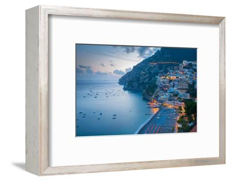 View over Positano, Costiera Amalfitana (Amalfi Coast), UNESCO World Heritage Site-Frank Fell-Framed Art Print