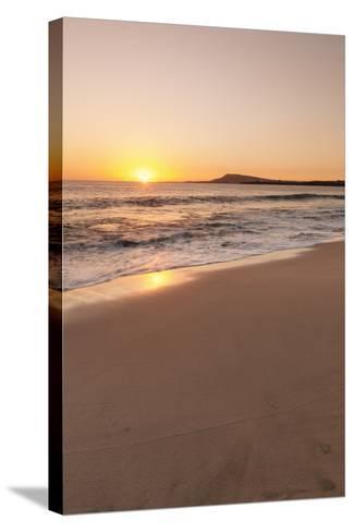 Playa Papagayo Beach at Sunset, Near Playa Blanca, Lanzarote, Canary Islands, Spain-Markus Lange-Stretched Canvas Print
