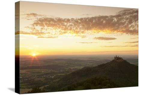 Burg Hohenzollern Castle at Sunset, Hechingen, Swabian Alps, Baden-Wurttemberg, Germany, Europe-Markus Lange-Stretched Canvas Print
