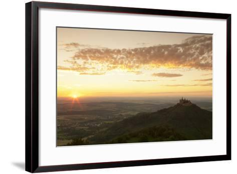 Burg Hohenzollern Castle at Sunset, Hechingen, Swabian Alps, Baden-Wurttemberg, Germany, Europe-Markus Lange-Framed Art Print