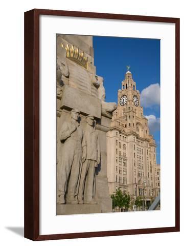 Royal Liver Building, Pier Head, UNESCO World Heritage Site, Liverpool, Merseyside-Frank Fell-Framed Art Print