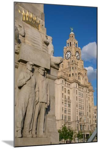 Royal Liver Building, Pier Head, UNESCO World Heritage Site, Liverpool, Merseyside-Frank Fell-Mounted Photographic Print