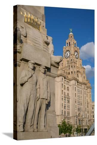 Royal Liver Building, Pier Head, UNESCO World Heritage Site, Liverpool, Merseyside-Frank Fell-Stretched Canvas Print