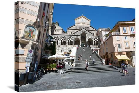 Piazza Duomo, Duomo Di Amalfi, Amalfi-Frank Fell-Stretched Canvas Print
