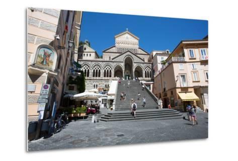 Piazza Duomo, Duomo Di Amalfi, Amalfi-Frank Fell-Metal Print