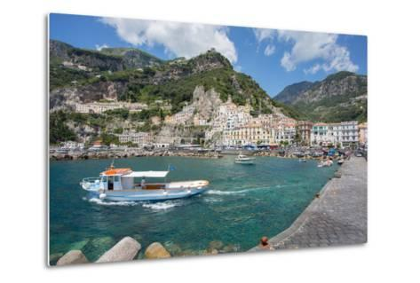 Amalfi from Harbour, Amalfi, Costiera Amalfitana (Amalfi Coast)-Frank Fell-Metal Print