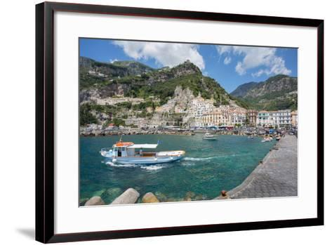 Amalfi from Harbour, Amalfi, Costiera Amalfitana (Amalfi Coast)-Frank Fell-Framed Art Print