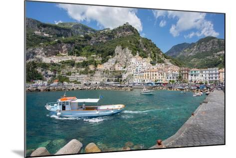 Amalfi from Harbour, Amalfi, Costiera Amalfitana (Amalfi Coast)-Frank Fell-Mounted Photographic Print