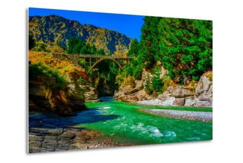 Shotover River, Queenstown, South Island, New Zealand, Pacific-Laura Grier-Metal Print