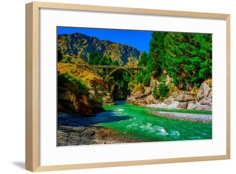 Shotover River, Queenstown, South Island, New Zealand, Pacific-Laura Grier-Framed Art Print