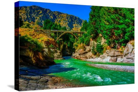 Shotover River, Queenstown, South Island, New Zealand, Pacific-Laura Grier-Stretched Canvas Print
