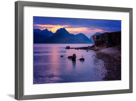 Sunset at Elgol, Isle of Skye, Inner Hebrides, Scotland, United Kingdom, Europe-Karen Deakin-Framed Art Print