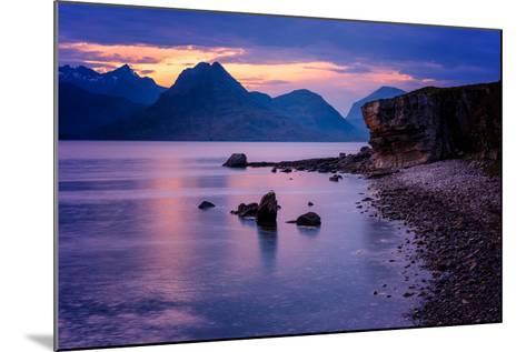 Sunset at Elgol, Isle of Skye, Inner Hebrides, Scotland, United Kingdom, Europe-Karen Deakin-Mounted Photographic Print