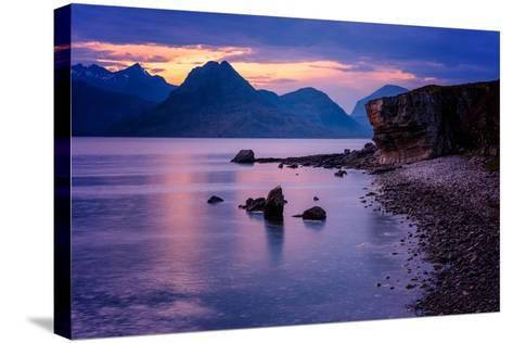 Sunset at Elgol, Isle of Skye, Inner Hebrides, Scotland, United Kingdom, Europe-Karen Deakin-Stretched Canvas Print