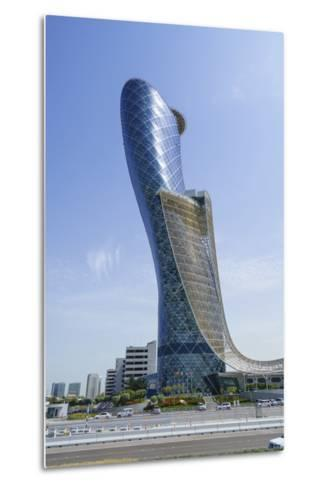 Capital Gate, Sometimes Called the Leaning Tower of Abu Dhabi, United Arab Emirates, Middle East-Fraser Hall-Metal Print