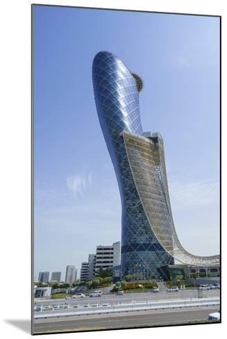 Capital Gate, Sometimes Called the Leaning Tower of Abu Dhabi, United Arab Emirates, Middle East-Fraser Hall-Mounted Photographic Print