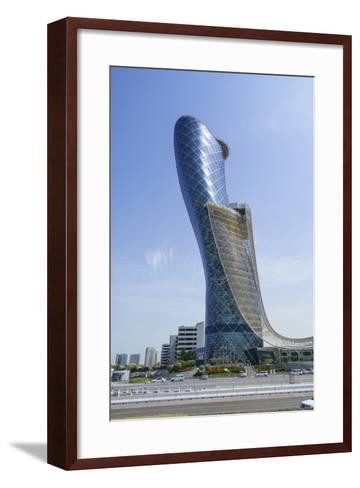 Capital Gate, Sometimes Called the Leaning Tower of Abu Dhabi, United Arab Emirates, Middle East-Fraser Hall-Framed Art Print