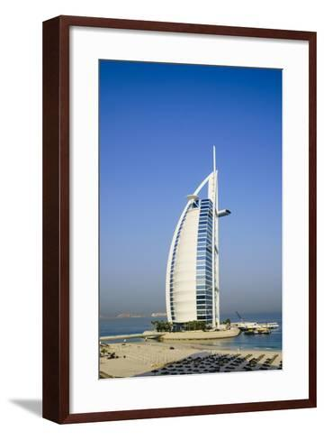 Burj Al Arab Hotel, Iconic Dubai Landmark, Jumeirah Beach, Dubai, United Arab Emirates, Middle East-Fraser Hall-Framed Art Print
