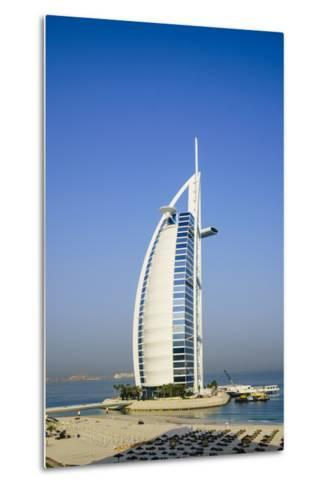 Burj Al Arab Hotel, Iconic Dubai Landmark, Jumeirah Beach, Dubai, United Arab Emirates, Middle East-Fraser Hall-Metal Print