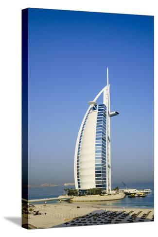 Burj Al Arab Hotel, Iconic Dubai Landmark, Jumeirah Beach, Dubai, United Arab Emirates, Middle East-Fraser Hall-Stretched Canvas Print