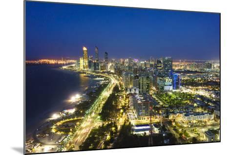 Skyline and Corniche, Al Markaziyah District by Night, Abu Dhabi, United Arab Emirates, Middle East-Fraser Hall-Mounted Photographic Print