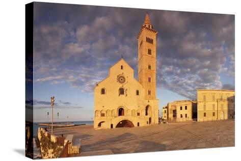San Nicola Pellegrino Cathedral at Sunset, Piazza Del Duomo, Trani-Markus Lange-Stretched Canvas Print