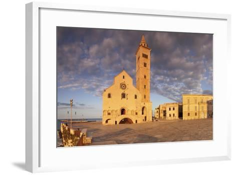 San Nicola Pellegrino Cathedral at Sunset, Piazza Del Duomo, Trani-Markus Lange-Framed Art Print