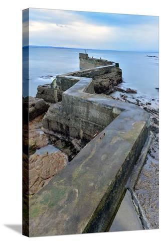 St. Monan's Pier, Fife, Scotland, United Kingdom, Europe-Karen Deakin-Stretched Canvas Print