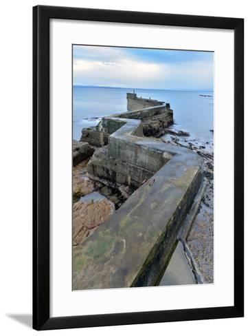 St. Monan's Pier, Fife, Scotland, United Kingdom, Europe-Karen Deakin-Framed Art Print