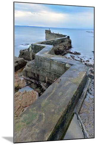 St. Monan's Pier, Fife, Scotland, United Kingdom, Europe-Karen Deakin-Mounted Photographic Print