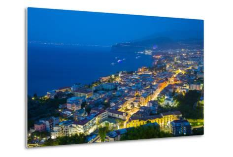 Panoramic View of Sorrento at Night, Sorrento, Amalfi Coast, UNESCO World Heritage Site, Campania-Frank Fell-Metal Print
