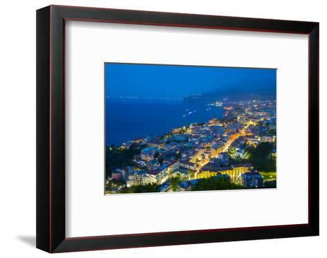 Panoramic View of Sorrento at Night, Sorrento, Amalfi Coast, UNESCO World Heritage Site, Campania-Frank Fell-Framed Art Print
