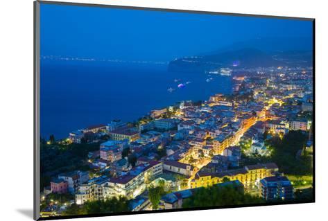 Panoramic View of Sorrento at Night, Sorrento, Amalfi Coast, UNESCO World Heritage Site, Campania-Frank Fell-Mounted Photographic Print