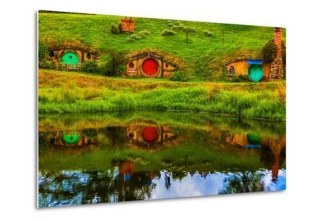 Hobbit Houses, Hobbiton, North Island, New Zealand, Pacific-Laura Grier-Metal Print