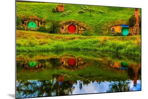 Hobbit Houses, Hobbiton, North Island, New Zealand, Pacific-Laura Grier-Mounted Photographic Print