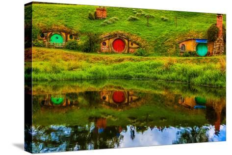 Hobbit Houses, Hobbiton, North Island, New Zealand, Pacific-Laura Grier-Stretched Canvas Print