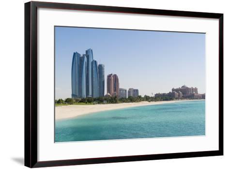Etihad Towers, Emirates Palace Hotel and Beach, Abu Dhabi, United Arab Emirates, Middle East-Fraser Hall-Framed Art Print