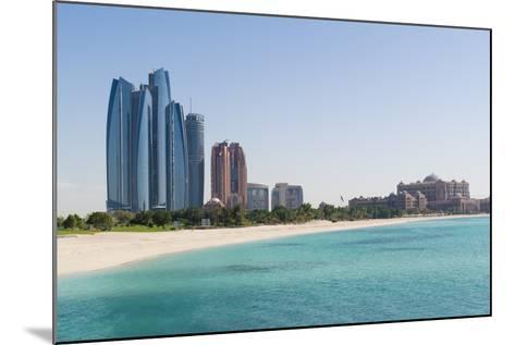 Etihad Towers, Emirates Palace Hotel and Beach, Abu Dhabi, United Arab Emirates, Middle East-Fraser Hall-Mounted Photographic Print