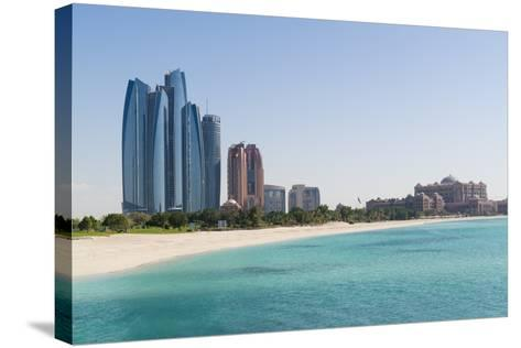 Etihad Towers, Emirates Palace Hotel and Beach, Abu Dhabi, United Arab Emirates, Middle East-Fraser Hall-Stretched Canvas Print