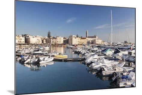 View over the Harbour to San Nicola Pellegrino Cathedral, Trani, Le Murge-Markus Lange-Mounted Photographic Print