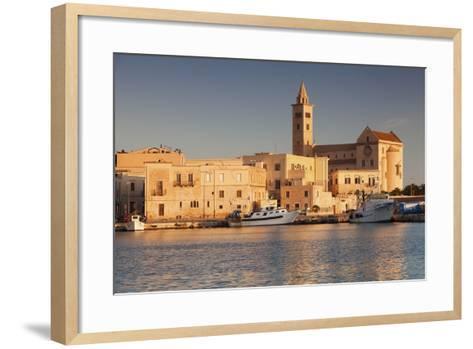 San Nicola Pellegrino Cathedral, at Sunrise, Harbour, Trani, Le Murge-Markus Lange-Framed Art Print