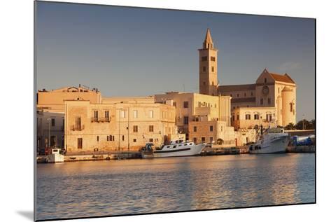 San Nicola Pellegrino Cathedral, at Sunrise, Harbour, Trani, Le Murge-Markus Lange-Mounted Photographic Print
